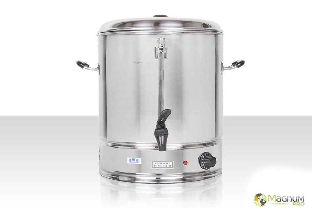 Warnik 40 litrów, zdjęcie przodu, wykonany ze stali nierdzewnej, jakość dla profesjonalistów, dostępny w magnum-pro.pl