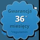 Gwarancja na 36 miesięcy